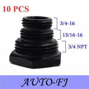 10 Oil Filter Thread Adapter 1 2 28 To 3 4 16 13 16 16 3 4 Npt New