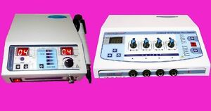 Combo Portable Electrical Stimulator Ultrasound Therapy Electrotherapy Ddtmk