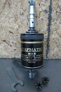 Tapmatic 50x Reversible Tapping Attachment 6 To 1 2 W taps Nice