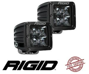 Rigid Industries D Series Pro Midnight Edition 3 Led Cube Light Set Spot