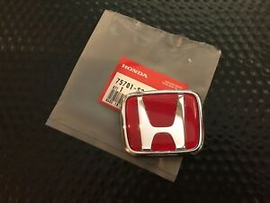 Jdm Genuine Honda S2000 H Emblem Red Rear