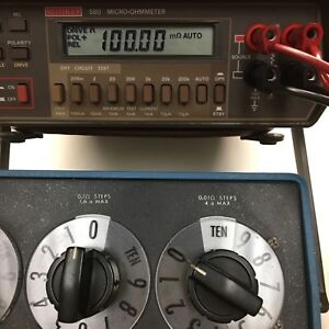 Keithley 580 Digital Micro ohmmeter Tested Spot On See Pictures