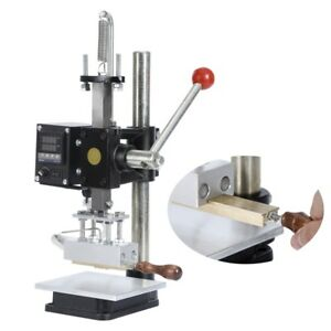 Hot Foil Bronzing Machine Stamping Press Leather Wood Embossing
