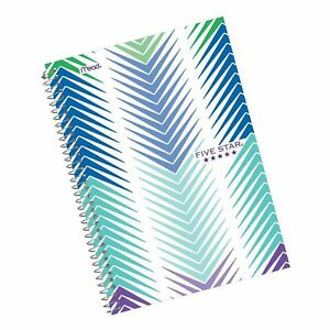 Five Star Spiral Notebook 2 Subject College Ruled Paper 100 Sheets 9 1 2 X 6