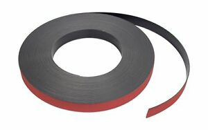Flexible Magnet Strip With Red Vinyl Coating 1 32 Thick 1 Height 50 Feet 1