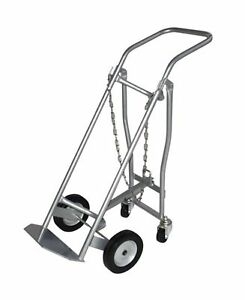 Milwaukee Hand Trucks 40767 Medical Cylinder Truck 1 Gas Cylinder With Retrac