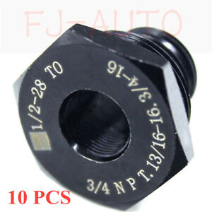 10 Sets Threaded Oil Filter Adapter 1 2 28 To 3 4 16 13 16 16 3 4npt Hot Sale