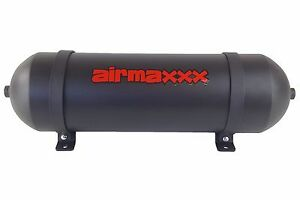 24 Seamless Spun Aluminum Air Tank Black 3 Gallon 6 Port Air Ride Suspension