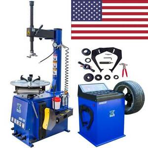 New 1 5 Hp Tire Changer Wheel Changers Machine Balancer Rim Clamp Combo 560 680