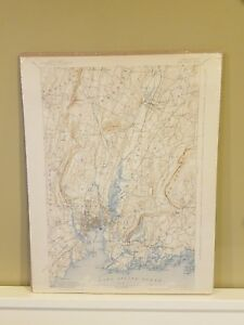 1892 New Haven Connecticut Ct Map U S Department Of The Interior Nice Colors