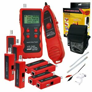 Cable Length Tester With 8 Remote Adaptor Wiremap Network Ethernet Lan Telephone
