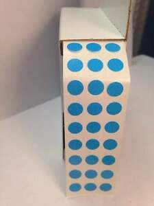 Blue 3 4 Stickers 17mm Round Labels Self Adhesive Color Coding Inventory Dot