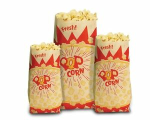 Paragon Popcorn Bags 1 000 count 1 Ounce New No Tax Free Shipping