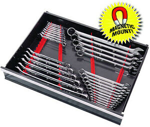 Ernst 6014m Red 40 Tool Wrench Organizer Rail Kit W Magnet Mount