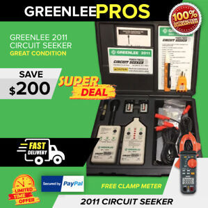 Greenlee 2011 00521 Finder Circuit Seeker Preowned Clamp Meter fast Ship