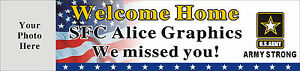 2ftx8ft Custom Personalized Us Army Soldier Welcome Home Banner With Your Photo