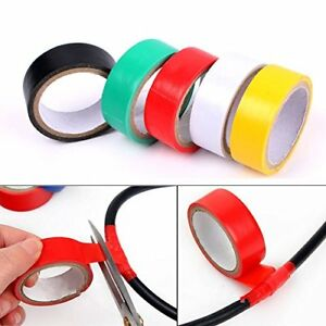 Electrical Tape 3 5 Inch By 50 Feet Pvc Wire Insulating Colored Tape 10 Rolls