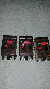 Lot Of 3 Wadsworth 2 Pole 240 Volt Breakers