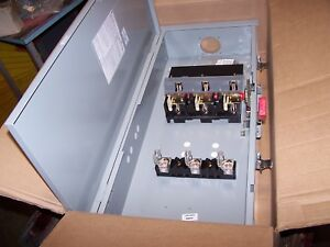 New Ge 200 Amp Fusible Safety Switch Nema 3r Outdoor 600 Vac Th3364r