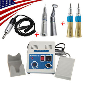 Dental Marathon Electric Micromotor With 4 Straight Nose Cone Push Contra Angle