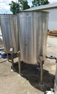 Sold Each 50 Gallon Stainless Steel Storage Tank 1 Side Bottom Outlet In