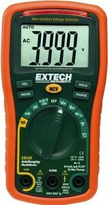 Extech Ex330 Mini Autoranging Multimeter With Temp Voltage Detector