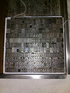 Sans Serif 36pt Full Case Alt Letterpress Metal Type fonted