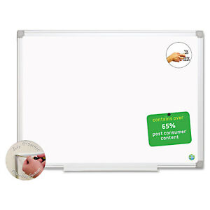 Mastervision Earth Easy clean Dry Erase Board White silver 24x36 Ma0300790