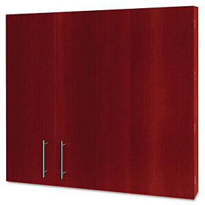 Mastervision Conference Cabinet Porcelain Magnetic Dry Erase 48 X 48 Cherry