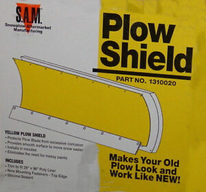 Buyers 1310020 Meyer Diamond Snowplow Yellow Plow Shield 28 Inches X 96 Inches