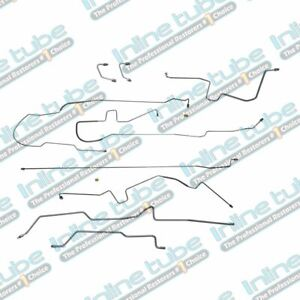 Fits 97 06 Jeep Wrangler Tj Preformed Hydraulic Brake Line Set No Abs Stainless