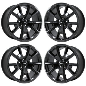 19 Ford Mustang Black Chrome Front Wheels Factory Oem Set 10035 Exchange