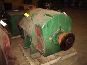 320 Kw General Electric Dc Generator 1200 Rpm 5453 Frame 500 V
