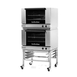 Moffat E27m2 2c Double Stacked Electric Turbofan Convection Oven With Casters