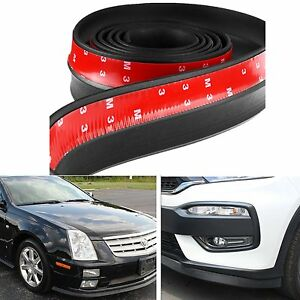 2 5m Car Front Bumper Lip Splitter Body Side Spoiler Protector Rubber Universal