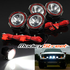 4pc 4 Inch 55w Hid Xenon Offroad Driving Flood Lights Work Search Outdoor Lamps