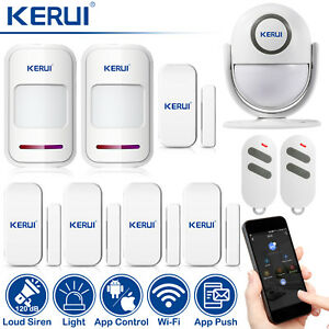 App Control Kerui Wp6 Wifi Alarm System Pir Detector Motion Sensor Home Security