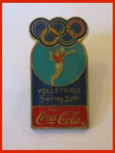 Sydney 2000 Olimpic Game Volleyball Coca Cola Pin Badge 1.4