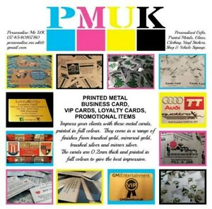 Personalised Metal Business Cards loyalty Cards promotional Itemsfullcolourprint