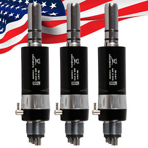 3 us Dental Air Motor 4 Hole Slow Low Speed Handpiece Fit Nsk E type Black Ex4 Y