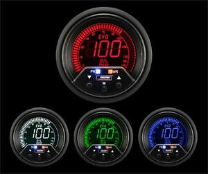 52mm 2 1 16 Premium Evo Digital Oil Pressure Gauge Red Blue Green White