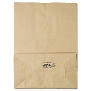 Grocery Paper Bags 75 Brown Kraft 400 Ct Duro Supertuff 1 6 Square Bottom