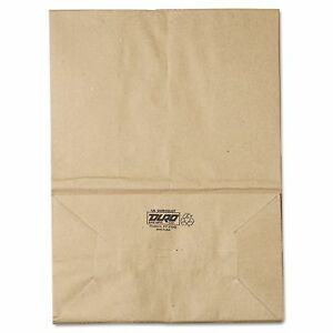 Grocery Paper Bags 57 Brown Kraft 500 Ct Duro 1 6 Square Bottom