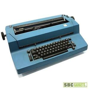 vintage Ibm Electric Business Typewriter Blue model Selectric Ii
