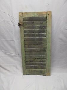 Antique House Window Wood Louvered Shutter Shabby Old Vtg Chic 30x14 69 18p