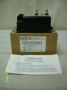 Setra Model C264 264 Differential Pressure Transducer 2641r25wb11t1c nos