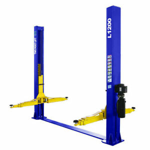 Two Post L1200 Auto Lift 12 000 Lb Capacity Car Vehicle Lift 110v Free Shipping