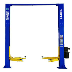 Two Post L1400l Auto Car Lift Truck Hoist Overhead 14 000 Lb Capacity 110v