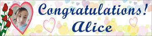 2ftx8ft Custom Personalized Congratulations Graduation Banner With Your Photo