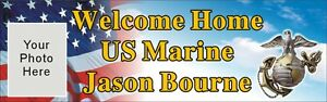 2ftx6ft Custom Personalized Welcome Home Us Marine Banner Sign W Your Photo
